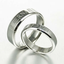 Personalize His and Her Matching Anniversary Wedding Ring Set 063A3