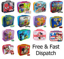 New Licensed Kids Character School Insulated Lunch Box Bag