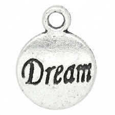 "Wholesale DIY Jewelry Round ""Dream"" Message Charm Pendants 15x12mm"