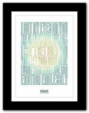 ❤ DRAKE  Hold On We're Going ❤ song lyrics typography poster art print  A1 A2 A3
