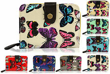 Yufashion brand new genuine medium size wallet, purse, clutch with butterfly pat
