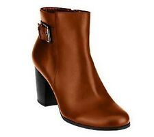 Isaac Mizrahi Live! Stacked Heel Ankle Boots with Buckle PICK SIZE COLOR