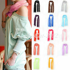 New Girls Lady Women's Fashion Candy Color Soft Long Soft Scarf Wrap Shawl Stole