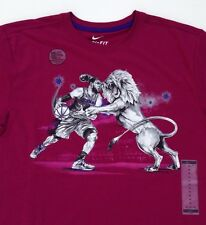 New Men's Nike LeBron Lion Within Hero Basketball T-Shirt Purple Multiple Sizes