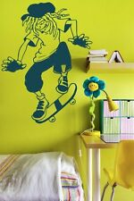 Dreadlocks Skater Kids / Teenager  Wall Sticker & Wall Decal. 40cm x 55cm