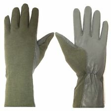 NOMEX FIREPROOF GLOVES AVIATION FLYING PILOTS TACTICAL LEATHER GLOVES ALL SIZES