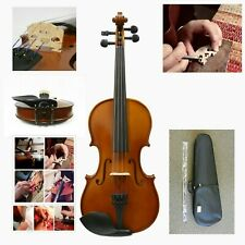 Solidwood Violin +Bow +Rosin +Case + Prelude Strings, Choose Size,Ready To Play!