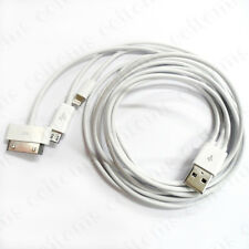 4in1 Micro USB Data Charger Cable for iPhone 4S 5/5S/5C Galaxy S4 Note NOKIA HTC