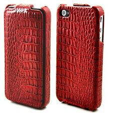 New Deluxe High-end Lizards Leather  Hard Flip  Case Cover for Apple iPhone 4 4S