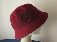 LADIES WOOL CLOCHE DOWNTON ABBEY STYLE HAT  (S-4)