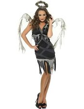 Adult Ladies Dark Fallen Angel Fairy Gothic Halloween Fancy Dress Outfit Costume