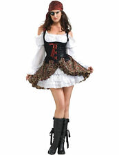 Lady Pirate Costume Ladies Cute Buccaneer Fancy Dress Pirates Wench Outfit