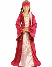 Child Medieval Renaissance Princess Queen Fancy Dress Book Week Costume