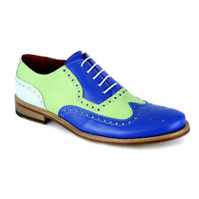 Scarpe Classiche Eleganti Uomo Bicolore Vintage Men's Shoes Full Brogue Handmade