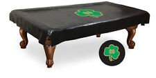 Notre Dame Fighting Irish Shamrock Black Pool Table Cover by HBS