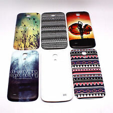 Flowery Painted Battery Back Door Case Skin Shield for Samsung Galaxy S4 Mini
