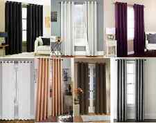 SILK BLACKOUT  WINDOW CURTAIN GROMMET PANEL HEAVY THICK  PRIVACY SAVING ENERGY