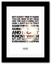 KATE BUSH - Cloudbusting ❤ song lyrics typography poster art print - A1 A2 A3 A4