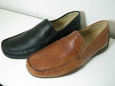 Mens Anatomic & Co Tavares Cognac Or Black Leather Slip On Moccasin Shoes