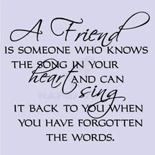 A FRIEND IS HEART SING SONG Wall Decal Wall Sticker Home Family Wall Art Decal