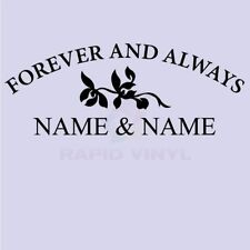 CUSTOM FOREVER & ALWAYS NAME Wall Decal Wall Sticker Home Family Wall Art Decal