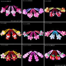 Wholesale 40pcs Lot Mix Colours Flower Cute Baby Girl Children Hair Pin Clips