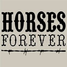 HORSES FOREVER Wall Decal Wall Sticker Home Life Wall Art Decal