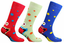 CRAZY FACES SOCKS ABOVE ANKLE COTTON SOCKS FUNKY FUNNY NOVELTY FACE MENS LADIES