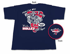 Holley Double Pumper Retro Navy T-Shirt  $14.95 10010-HOL