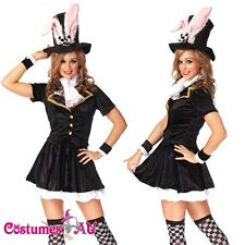 Ladies Black Easter Bunny Rabbit Costume Fancy Dress Hens Party Full Outfit