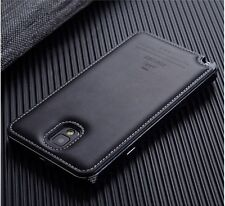 New Luxury Aluminum & Cow Leather Case Cover For Samsung Galaxy Note 3 III N9000