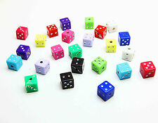 New 30/100/500 Pcs Acrylic 7mm Square Dice Beads Mixed Opaque Acrylic Cube Dice