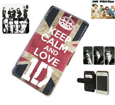 1D One Direction Niall Louis leather card wallet flip phone case for iPhone 4/4S