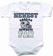 Baby bodysuit Newest fan Dallas Cowboys football NFL One Piece onesie jersey