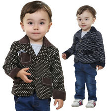 Toddler Boy 3 PC Outfit Sets Party Wedding Xmas Suit Set Size 1-4 years Old!