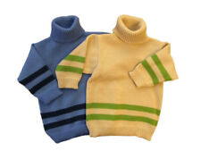 Polo Neck Sweater MERINO WOOL baby infant toddler children knitted turtleneck