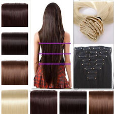 SALON FINEST Full Head HAIR EXTENTIONS 18 CLIPS IN Women favored stylish USA h21