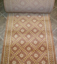 """162815 -Rug Depot Hall and Stair Runner Remnants-31"""" Wide-Rosey Brown- 100% Wool"""