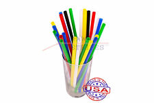 1,000 SMOOTHIE plastic drinking straws - 10 x 0.28 Inch - color selectable