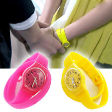 Multi-Color Unisex Jelly Rubber Candy Cute Girls Womens Wrist Watch Party Gift