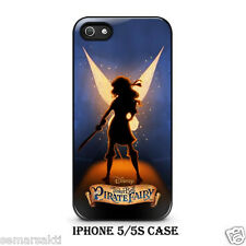 Tinkerbell and The Pirate Fairy Custom Black iPhone 4/4S & 5/s Hard Case Cover
