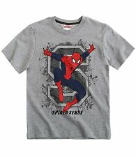 Spiderman Boys T Shirt Top Ages 4-10 Spider Man