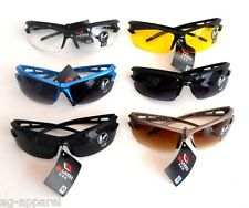 SHATTER PROOF SAFETY SPORTS SUNGLASSES GOLFING CYCLING OUTDOOR UV 400 USA SELLER