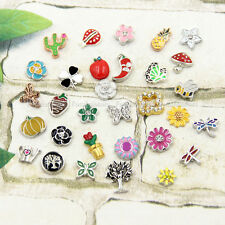 MINI Floating Charms Insects Plants for Glass Living Memory Lockets NEW 1 piece