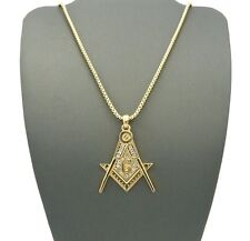 Hot New Masonic Must Have Trendy Unique Hip Hop Chain Pendant Necklace XMP26