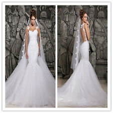 2014 Designers White Lace Mermaid Wedding Dresses Removable Train Bridal Gowns