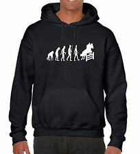 Adult Fun novelty Hoodie Evolution of a Show Jumper Horse Rider Show Jumping