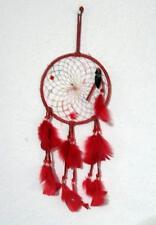 "Dream Catcher 6"" Diameter Arrow Head Leather Feathers Beads 12"" long Wall Deco"
