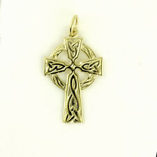 9ct Yellow Gold Welsh Design Celtic Cross with or without Gold Chain