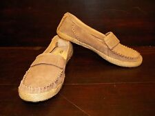 New Womens UGG Marrah Fawn Suede Moccasin Slip On Shoe